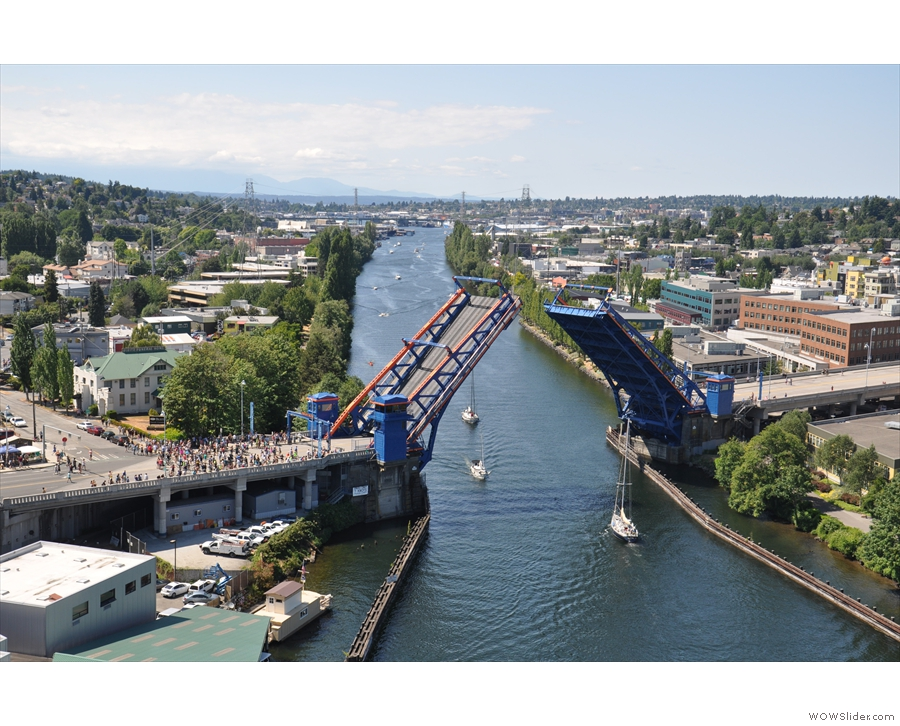 This time it was to let a tall-masted yacht through from Lake Union.