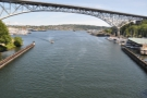 Another view of the Aurora Bridge, which now looks as if it's sloping in the other direction!