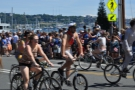 The cycle-parade is clothing-optional, with most people sporting some level of body paint...