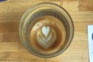 ... holding its pattern all the way to the bottom of the cup. Always a good sign!