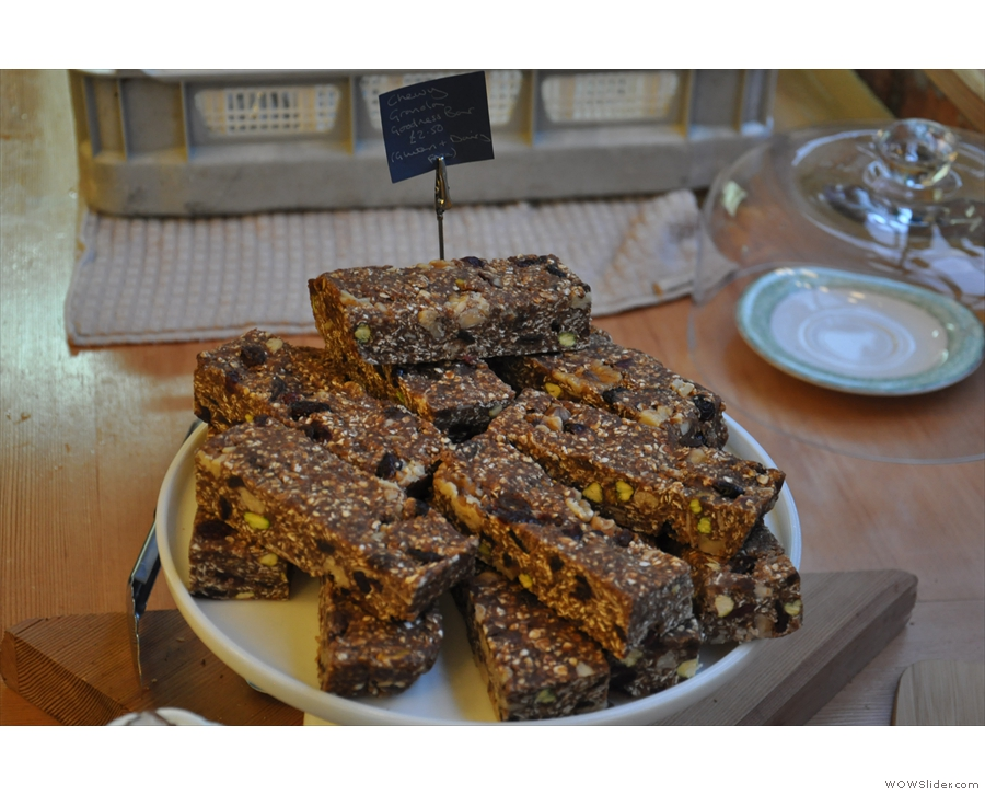 And finally, dairy- and gluten-free chewy granola bars.