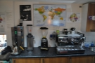 At the other end of the roastery is a small lab/training area.