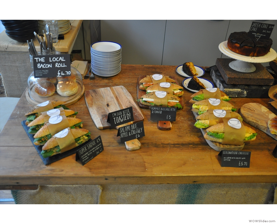 First of all comes the sandwich selection, itself very tempting...