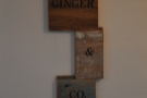 There are also several interesting signs and bits and pieces on the walls...