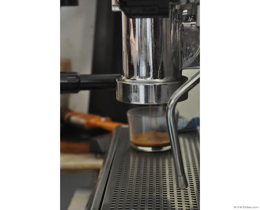 Here comes my espresso.