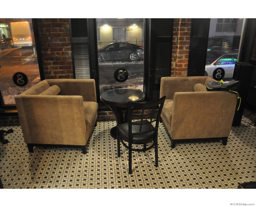 The other option is this lovely pair of armchairs and their coffee table.