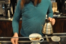 One of the great things about Sweetleaf: the pour-over is done at the front of the counter.