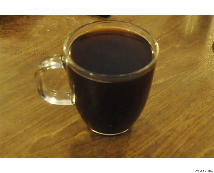 However, since Cafe Grumpy does pour-over, that's what I had: a mug of the Los Santos.