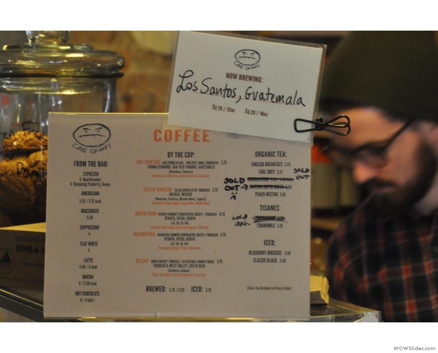 House-blend, single-origin & decaf on espresso, 4 single-origins on pour-over (+ bulk-brew)