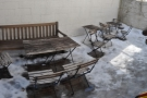 ... which lead into this delightful courtyard. Perhaps not at its best on a snowy, March day...