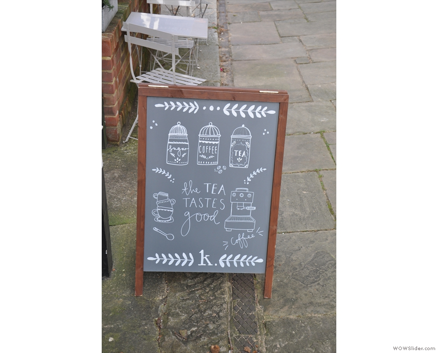 ... while this one exhibits the same spelling mistake as the one out front!