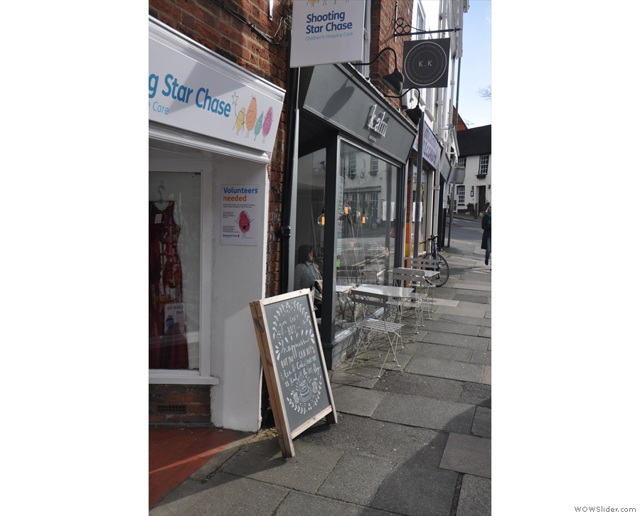 This is the view if you are approaching from the High Street.