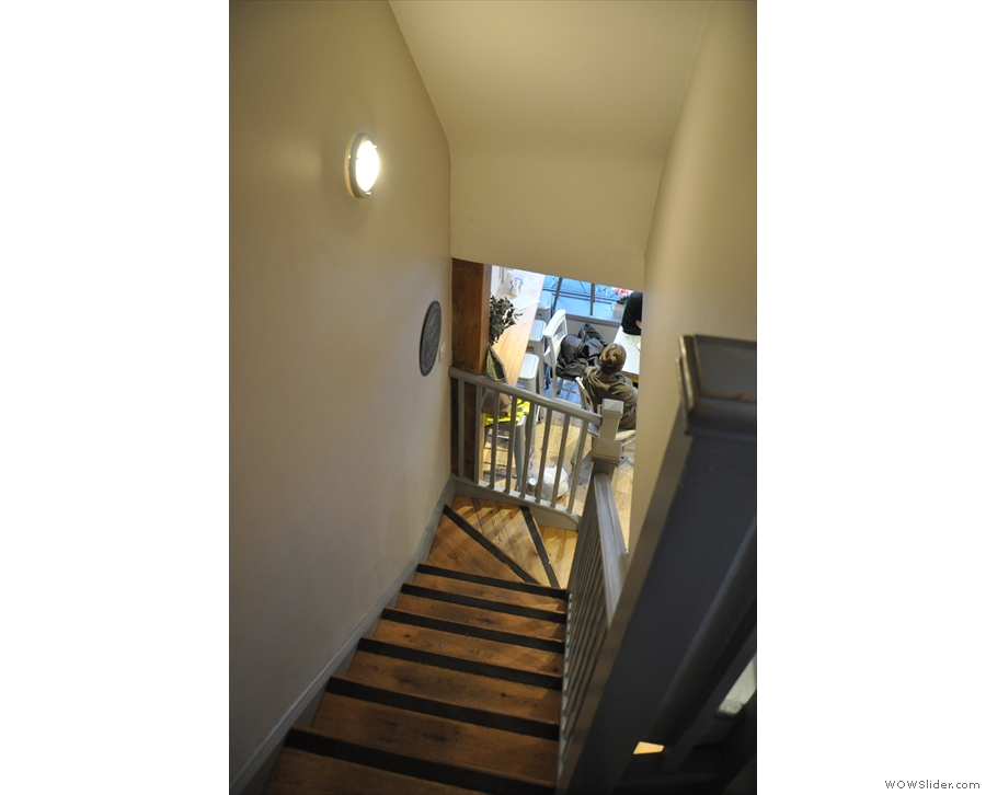 Time to go back downstairs. Yes, they are also that steep!