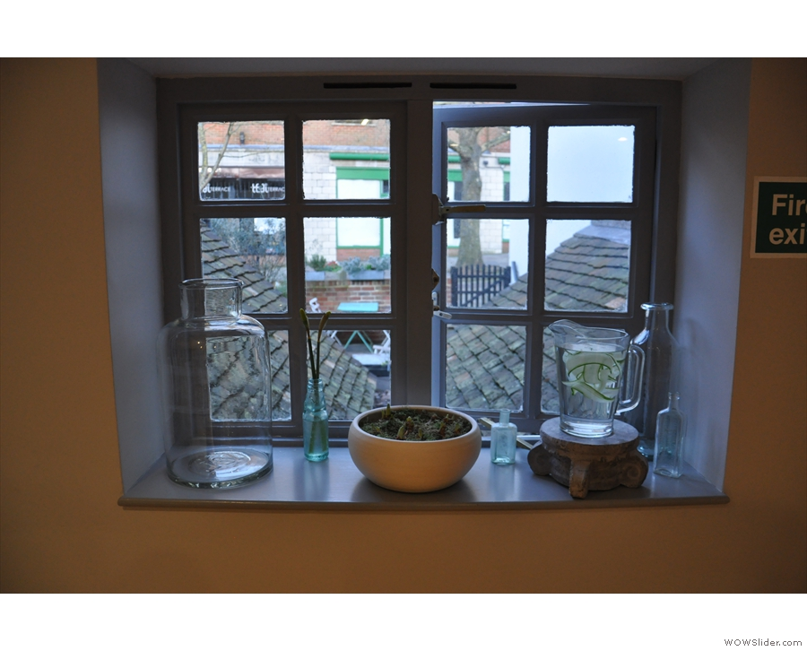 As well as the windows at the front, overlooking Tunsgate, these overlook the back...