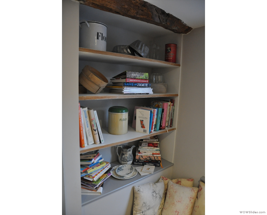 ... where you're right next to the book shelves!