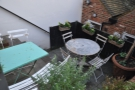 ... although if you prefer, you can sit on this this two-level terrace.