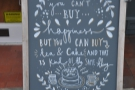 ... and nice A-board, although 'coffee' has been misspelled 'tea'! ;-)