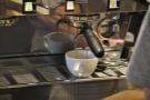 Espresso extraction.