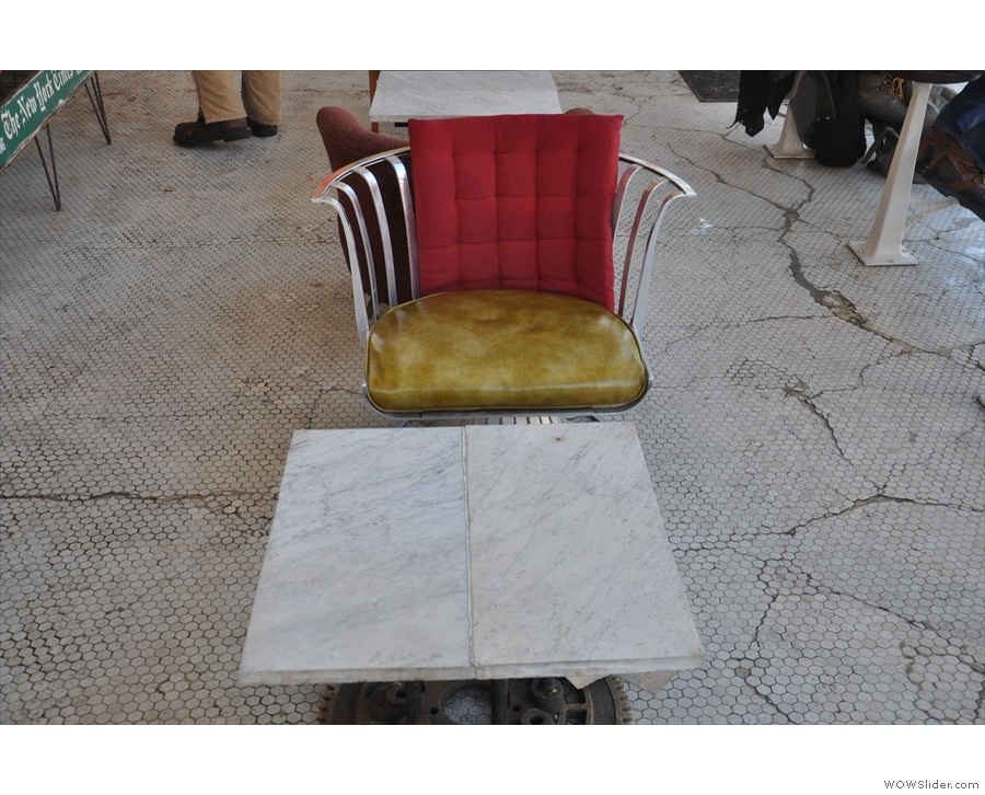 Mind you, the first of the two tables (Washington Ave end) has magnificent chairs.