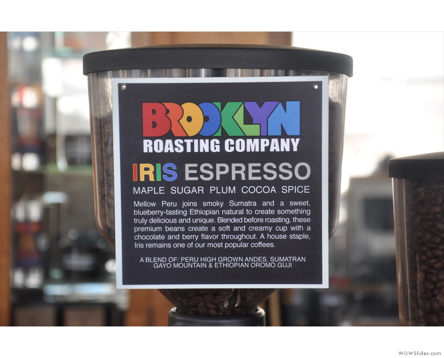 ... and the other for the guest espresso, in this case the IRIS blend...
