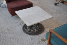 The 2nd set of chairs aren't so good, but check out the table itself & its gear-wheel base.