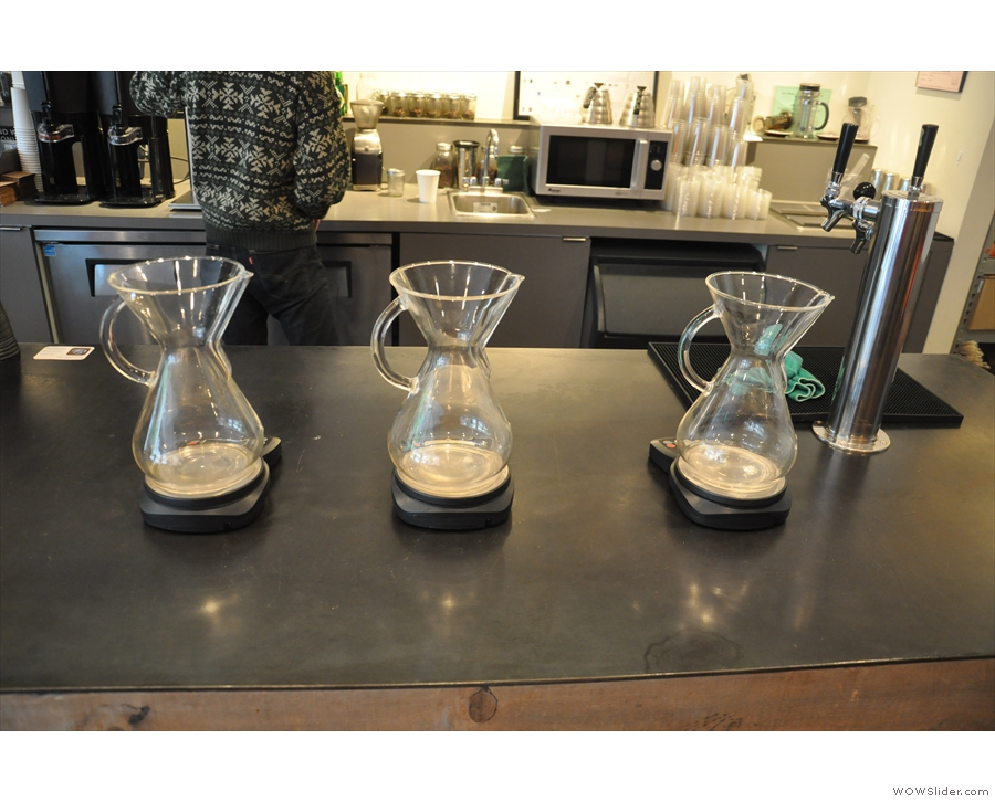 ... although the Chemex takes centre stage.