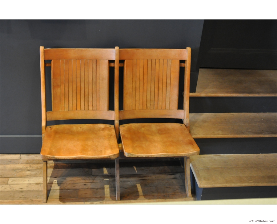 Meanwhile, if you want to sit down, there are these two chairs right at the back.
