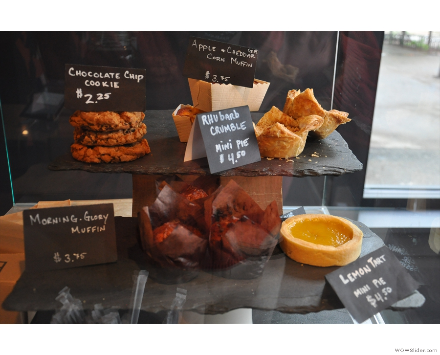 ... with an interesting selection of sweet and savoury treats.