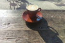 It's February and my cappuccino is basking in the winter sun.