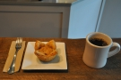 ... which I had with the rhubarb crumble mini-pie. Lovely presentation.