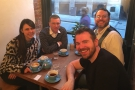 And finally, afterwards with Diana Johnson at Small St Espresso.