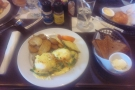 We went out for brunch at local restaurant, where I had Eggs Florentine...