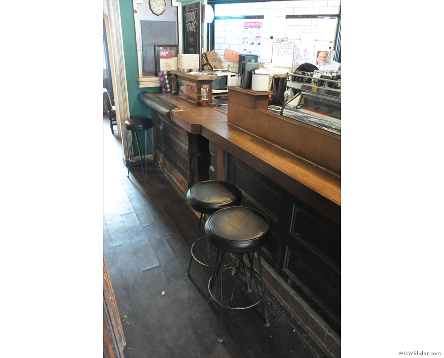 ... as are some lovely bar stools which mean you can sit at the counter if you want to.