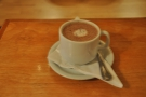 My single-origin hot chocolate. A small one!