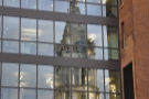 I love the reflection of the church spire in the windows of the office block opposite.