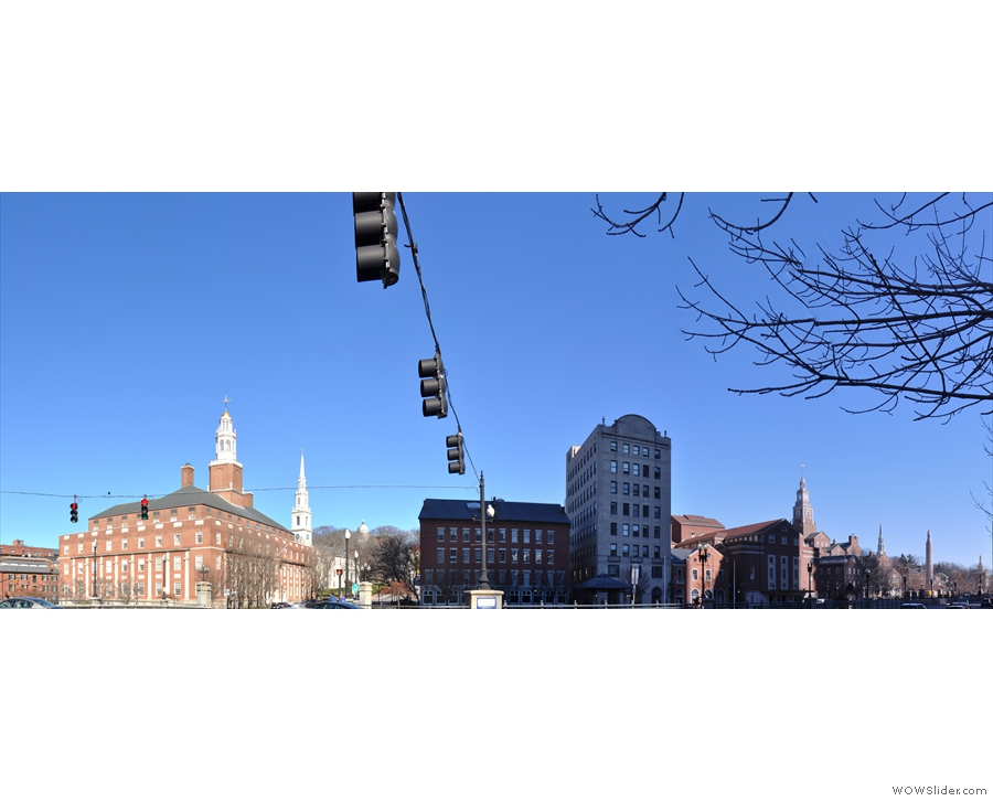 Here they are, all in a row. This is the view looking east over the Providence River.
