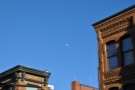 ... which are on  on Washington Street. I also had the moon for company.