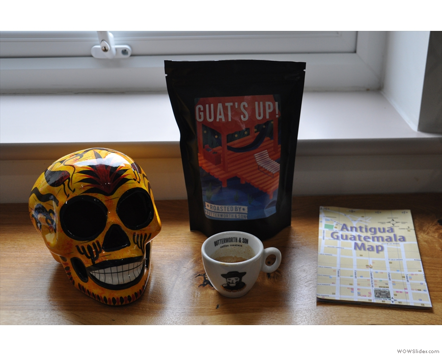 ... it being Butterworth & Son's Guat's Up! Guatemalan blend, fruits of a visit to Origin.