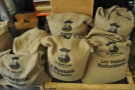 The obligatory shot of sacks of green beans at the roastery.