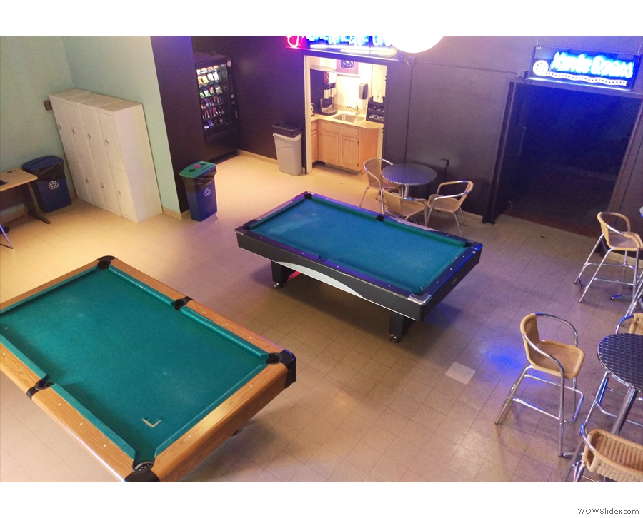 Finally, you could always play pool. There's a TV room too.