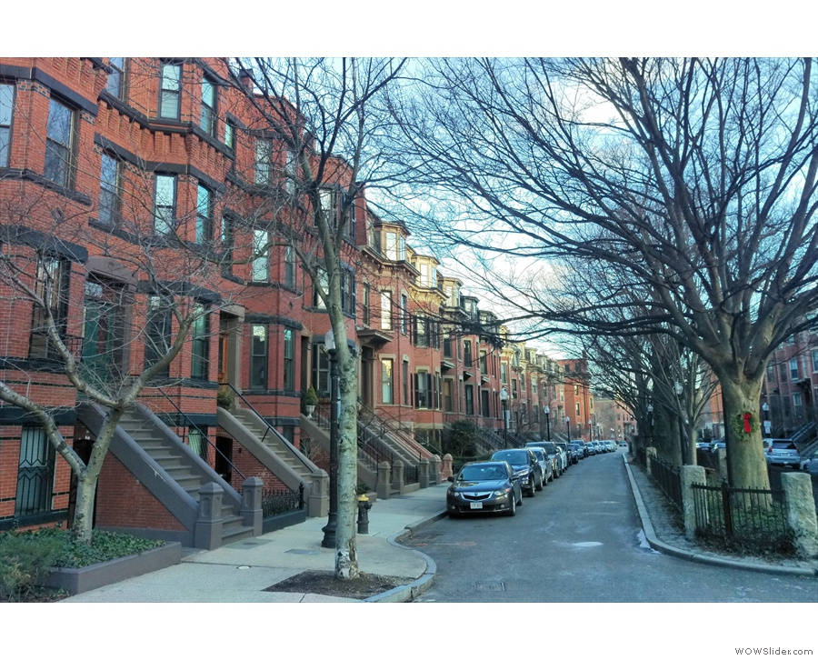 Looking the other way, these are typical brick-builk South End townhouses. So lovely.