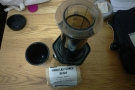 Back in the hostel and late night (decaf) coffee was provided by my Aeropress & Extract.