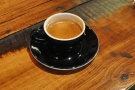 I, however, had an espresso of the house-blend, which came in a classic black cup.