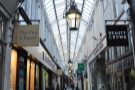 ... gives way to a rather lovely interior, dating back to 1858. It's Cardiff's oldest arcade.