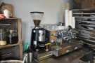 Another major upgrade is in the coffee-making side of things. This was 2012's set-up...