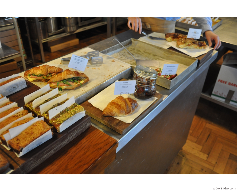 And, of course, the large counter gives plenty of space to display the cakes & savouries.