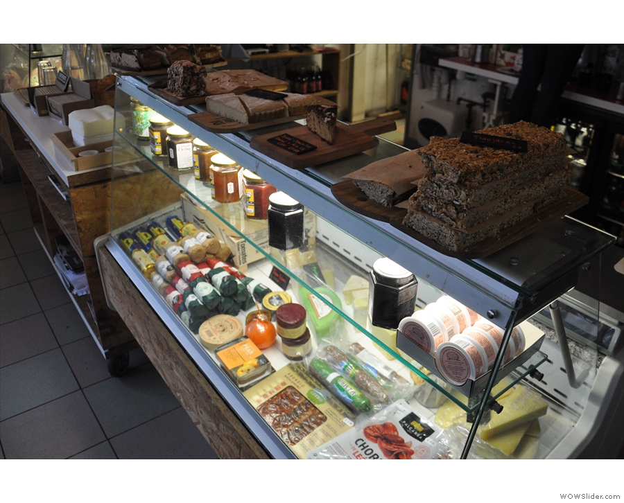 There is also a reasonable selection of cake, laid out on the top of the deli counter.