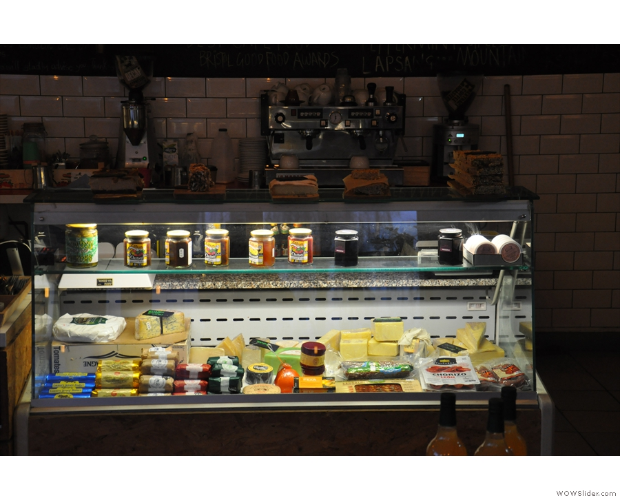 Here's No 12 the deli, with its cheese counter...