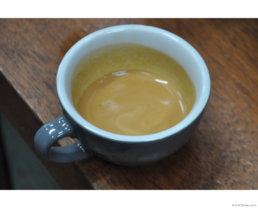 A single-origin Kenyan espresso, words designed to strike fear into my heart.