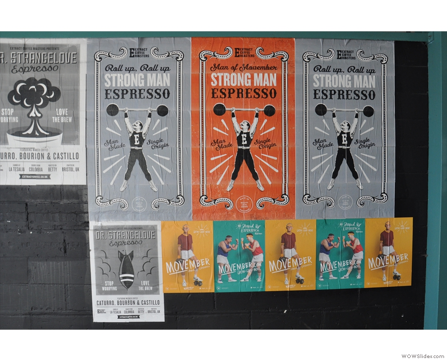 Extract's known for it's interesting posters: Strongman is its Movember espresso...